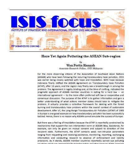ISIS focus No.12/2015