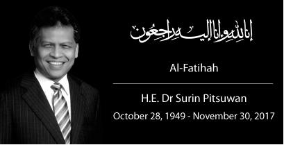H.E. Dr Surin Pitsuwan